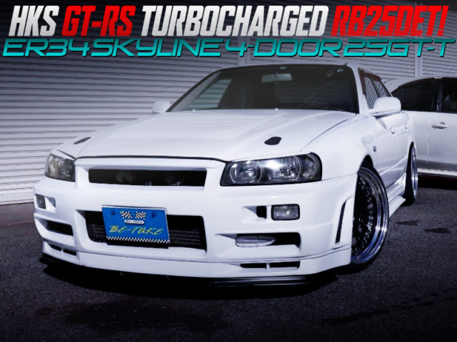 HKS GT-RS TURBOCHARGED ER34 SKYLINE 4-DOOR 25GT-T TO GT-R STYLE.