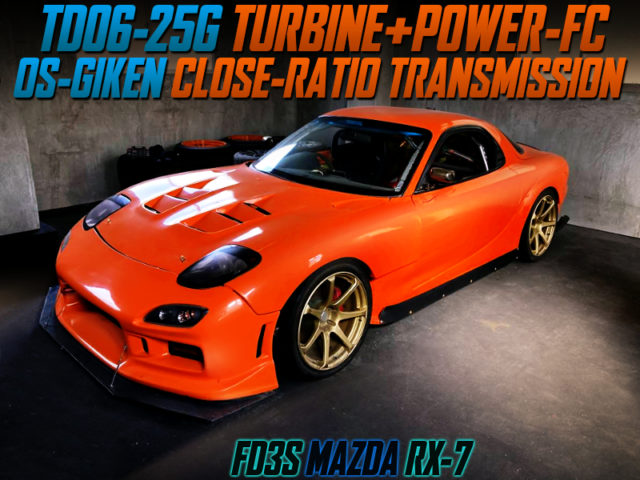 TD06-25G TURBO and CLOSE-RATIO GEARBOX INTO FD3S RX-7 WIDEBODY.
