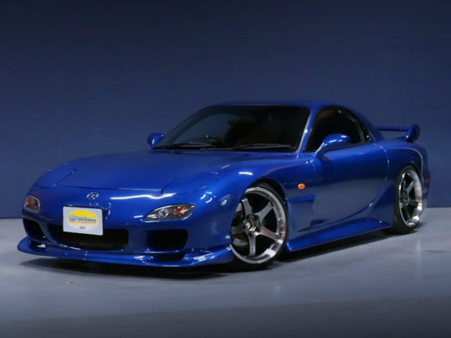 FRONT EXTERIOR OF FD3S RX-7 TYPE-R BATHURST TO blue.