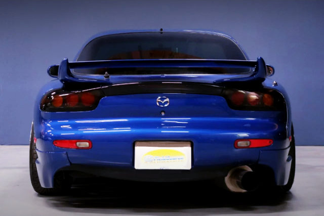 REAR TAIL LIGHT OF FD3S RX-7 TYPE-R BATHURST TO blue.