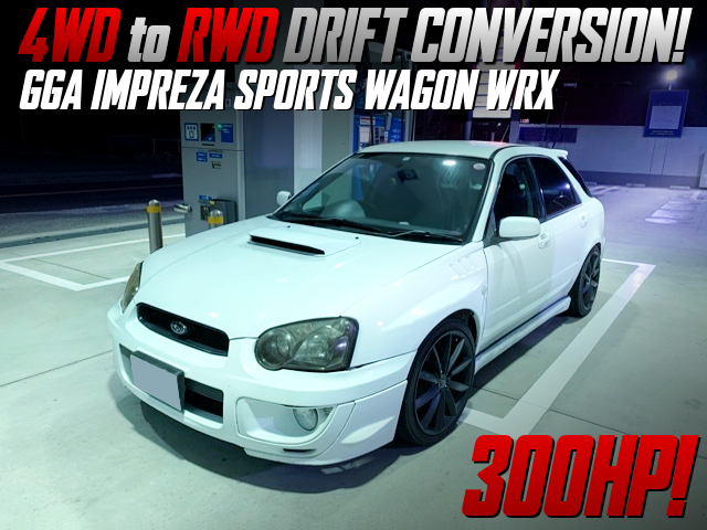 RWD DRIFT CONVERT TO GGA IMPREZA SPORTS WAGON WRX.