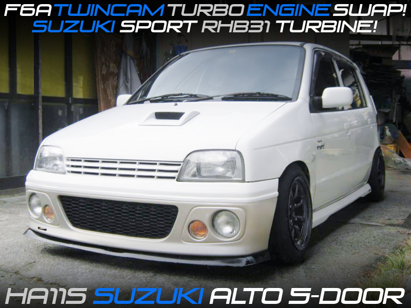 F6A TWINCAM TURBO SWAP with RHB31 TURBO into HA11S ALTO 5-DOOR.