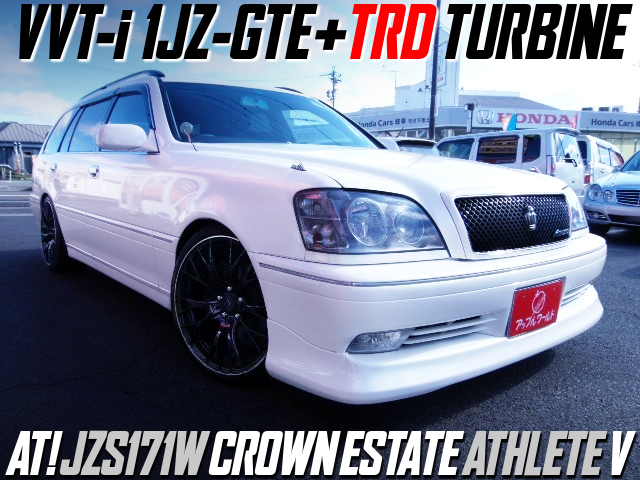 VVT-i 1JZ-GTE with TRD TURBINE into JZS171W CROWN ESTATE ATHLETE V.