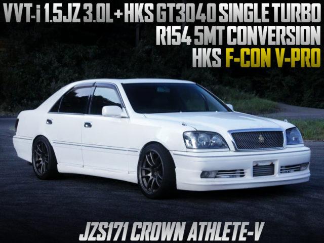 1.5JZ 3.0L with GT3040 SINGLE TURBO into JZS171 CROWN ATHLETE V.