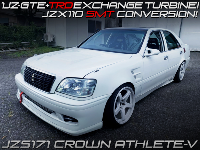 1JZ-GTE with TRD TURBINE and 5MT INTO JZS171 CROWN ATHLETE V.