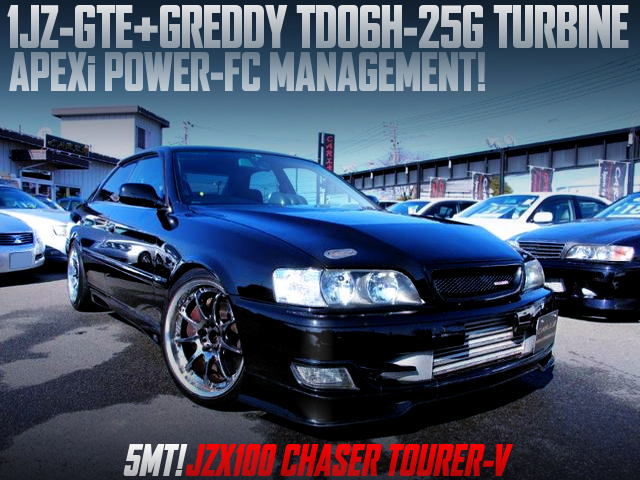 1JZ with TD06H-25G and POWER-FC into JZX100 KOUKI CHASER TOURER-V.
