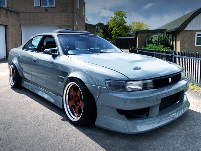 FRONT EXTERIOR OF JZX90 CHASER to BMW LIME ROCK GREY.
