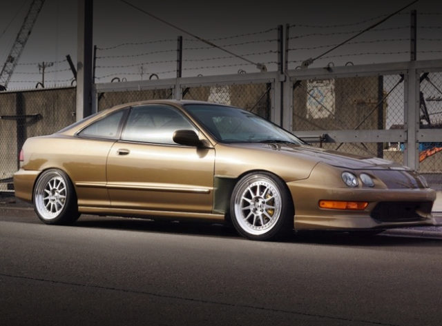 FRONT EXTERIOR OF DC2 INTEGRA to BROWN GOLD METALLIC.