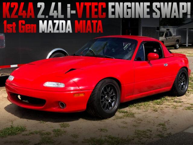 K24A i-VTEC SWAPPED 1st Gen MAZDA MIATA.