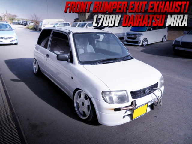 FRONT BUMPER EXIT EXHAUST and STANCE of L700V DAIHATSU MIRA.