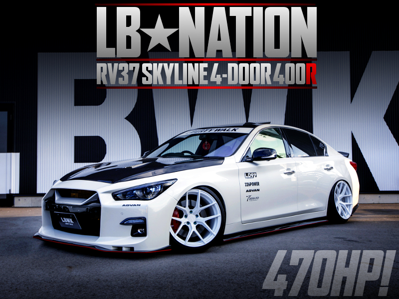 LB-NATION BODY KIT INSTALLED RV37 SKYLINE 4-DOOR 400R.