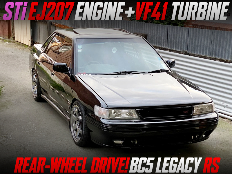 STi EJ207 VF41 TURBO INTO BC5 LEGACY RS TO RWD.