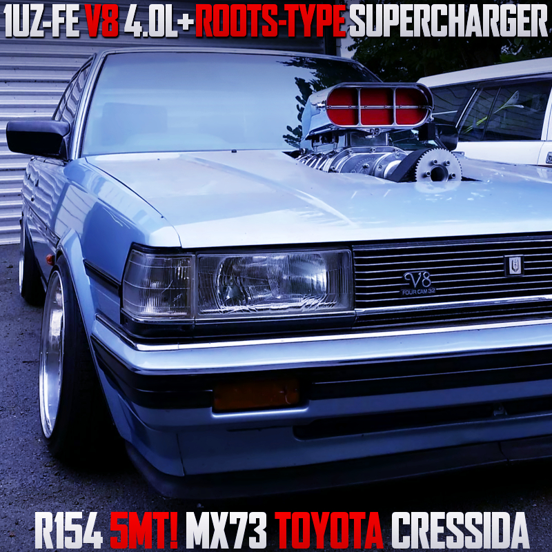 ROOTS-TYPE SUPERCHARGED 1UZ SWAPPED MX73 CRESSIDA.