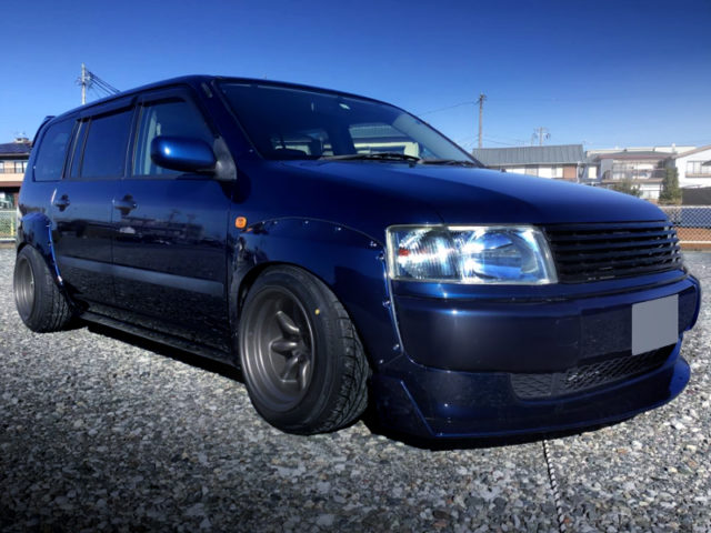 FRONT EXTERIOR OF 50 PROBOX WAGON WIDEBODY to BLUE BLACK.