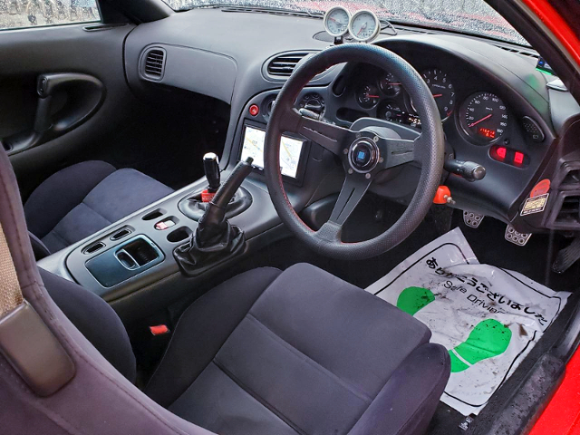 DRIVER'S DASHBOARD OF FD3S RX-7.