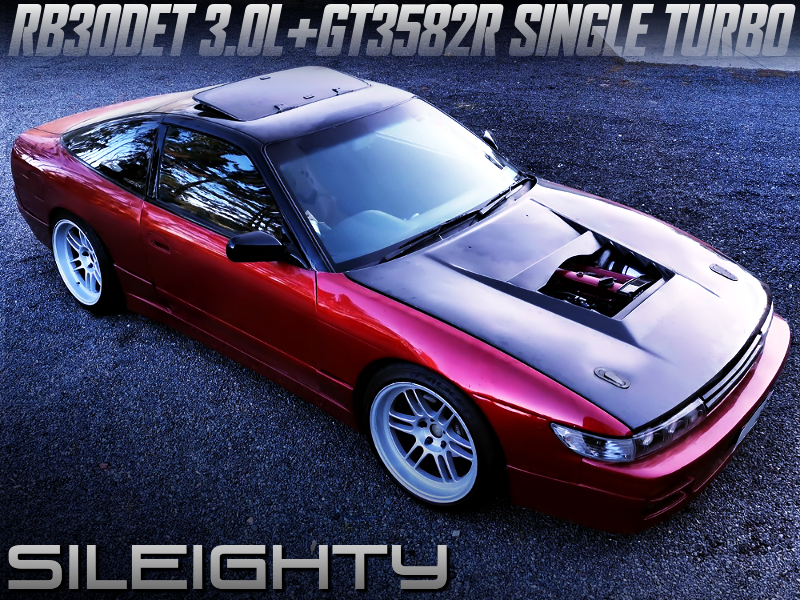 RB30DET with GT3582R SINGLE TURBO into S13 SILEIGHTY.