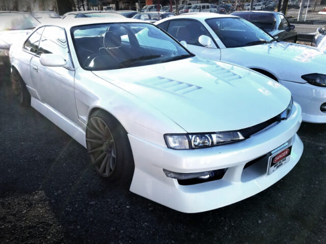 FRONT EXTERIOR OF S14 KOUKI SILVIA K'S WIDEBODY.