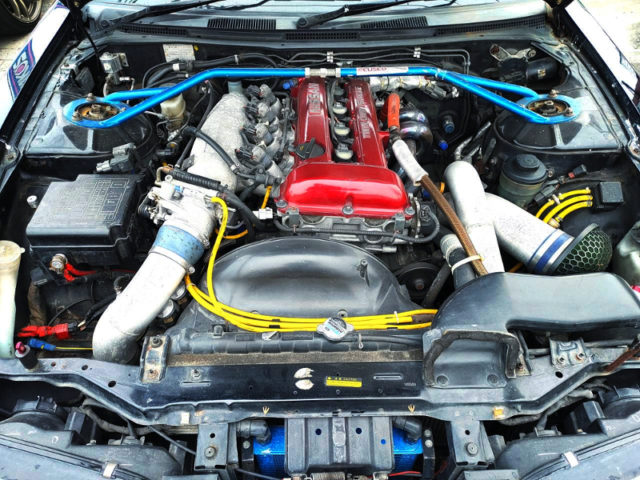 SR20DET with HKS 2.2L KIT and GT3037 TURBO.