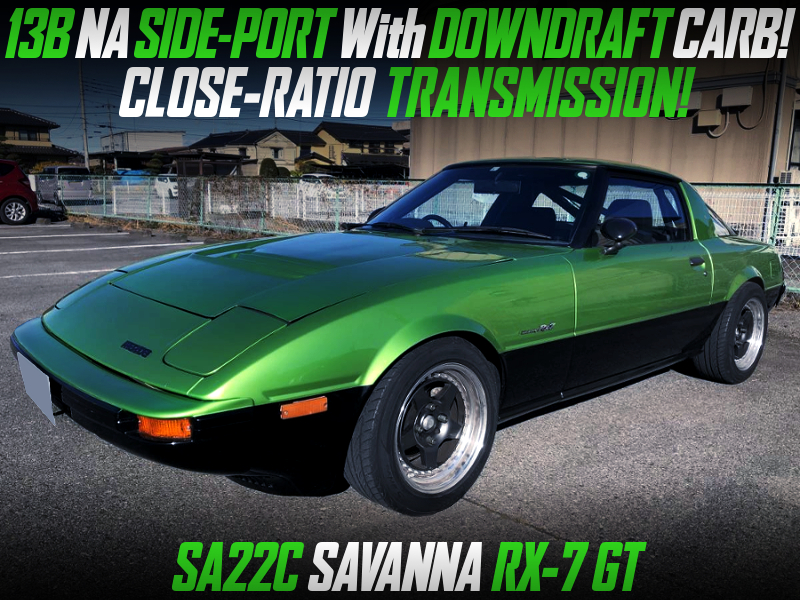 13B NA SIDEPORT with DOWNDRAFT CARB into SA22C SAVANNA RX-7 GT.