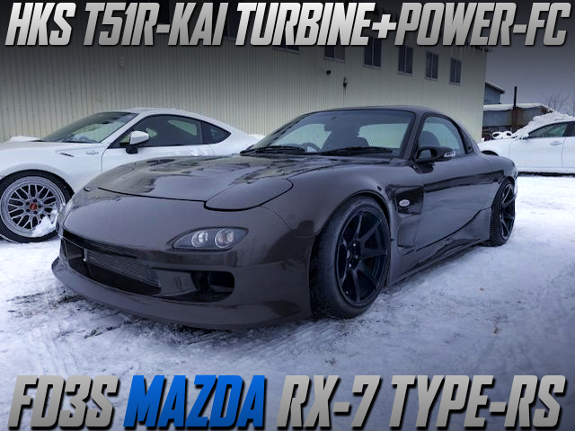 HKS T51R TURBOCHARGED FD3S RX-7 TYPE-RS WIDEBODY.