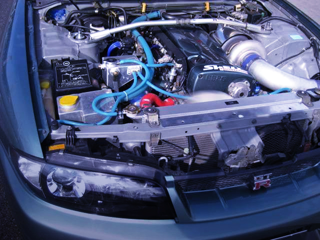 RB26 with T78 SINGLE TURBO.