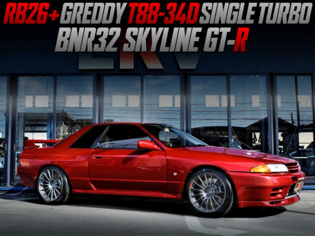 T88-34D TURBOCHARGED R32 GT-R WINE RED.