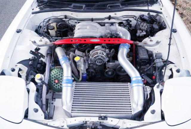 V MOUTED INTERCOOLER ON 13B-REW TO4S SINGLE TURBO.