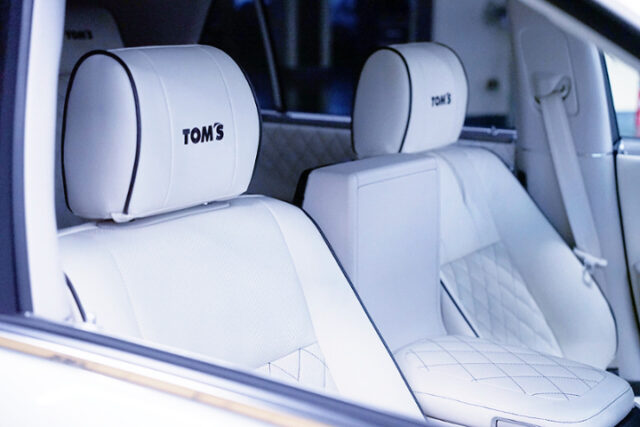 FRONT SEATS OF TOM'S CENTURY.