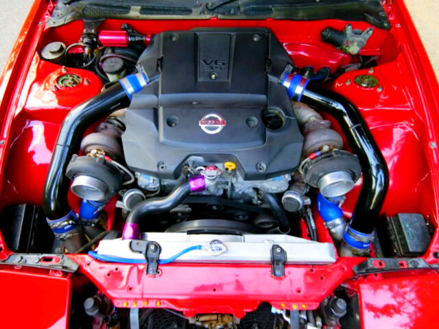 VQ35HR 3500cc V6 with GT45 TWIN TURBO.