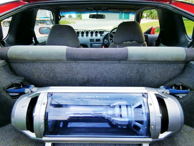 SUBWOOFER SETUP TO 180SX LUGGAGE SPACE.