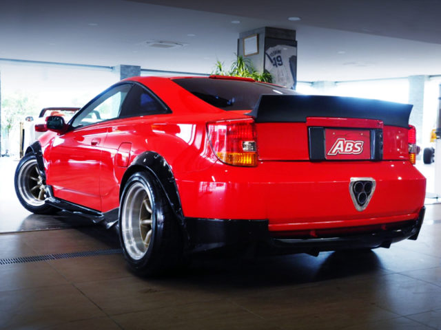 REAR EXTERIOR OF ZZT231 CELICA SS-2 WIDEBODY and RED.