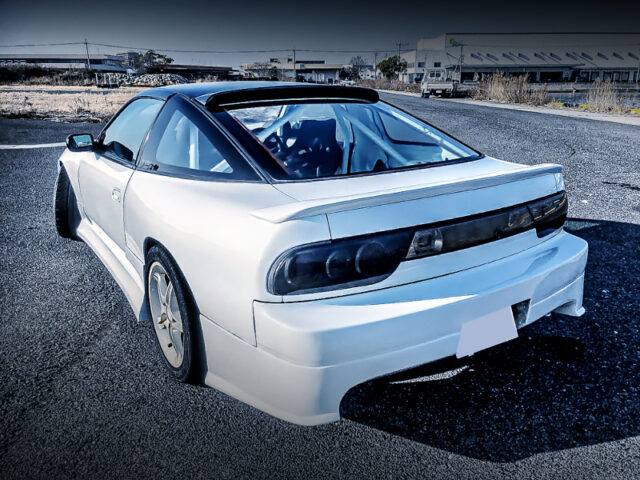 REAR EXTERIOR OF RPS13 180SX TYPE-X.