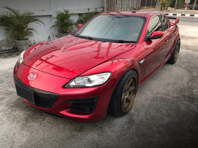 FRONT EXTERIOR OF MAZDA RX-8 to RED.