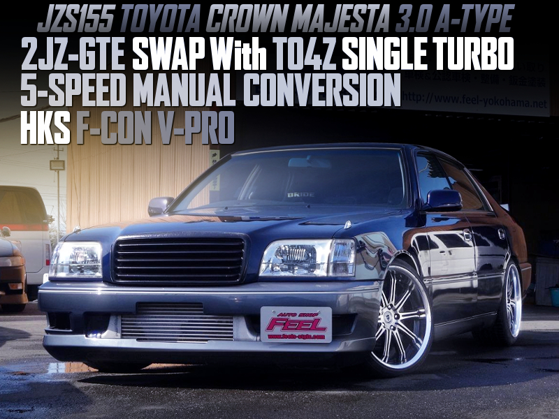 2JZ-GTE with TO4Z TURBO and 5MT into JZS155 CROWN MAJESTA.