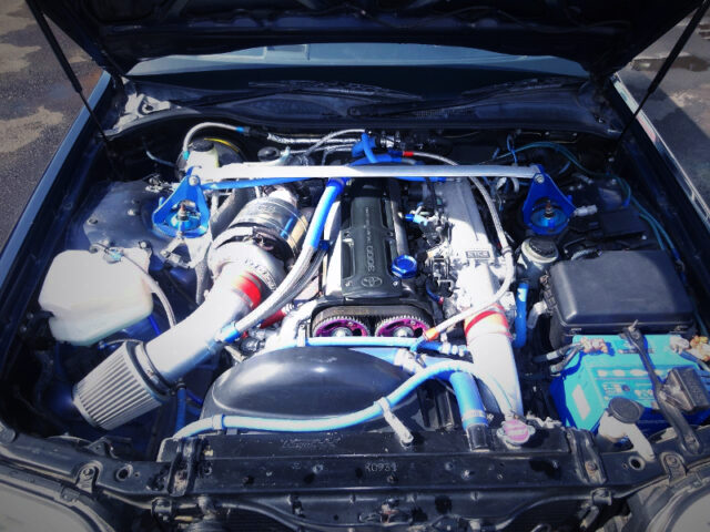 2JZ-GTE 3.0L ENGINE with TO4Z SINGLE TURBO.