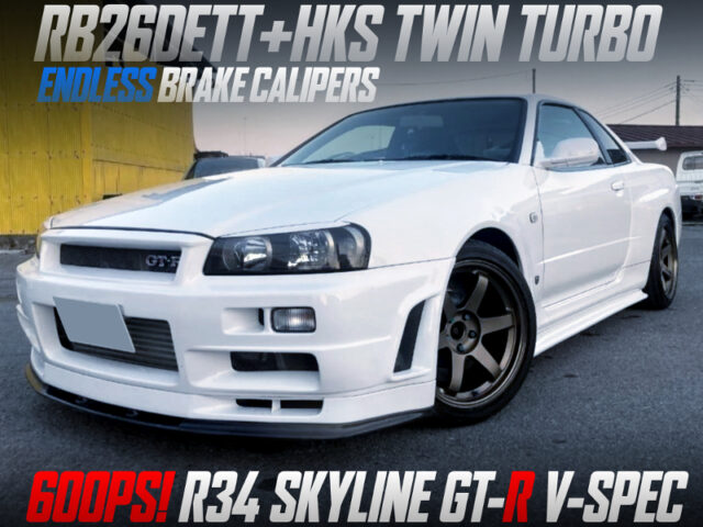 600PS HKS TWIN TURBOCHARGED R34 GT-R V-SPEC.