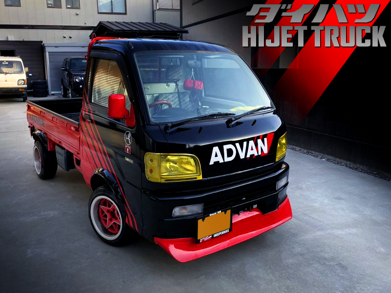 ADVAN RACING PAINT and FENDER FLARES. of S210P HIJET TRUCK.
