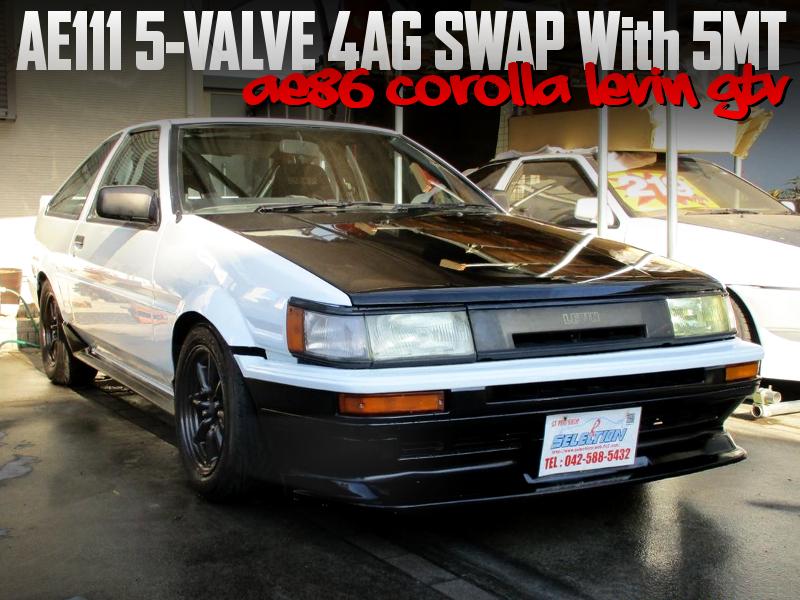 AE111 5V 4AG SWAPPED AE86 LEVIN GTV.