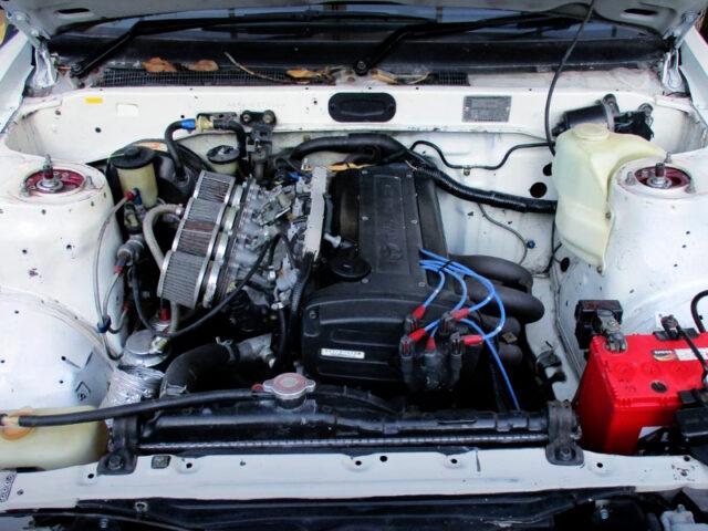 AE111 5-VALVE 4AG ENGINE intO AE86 LEVIN ENGINE ROOM.
