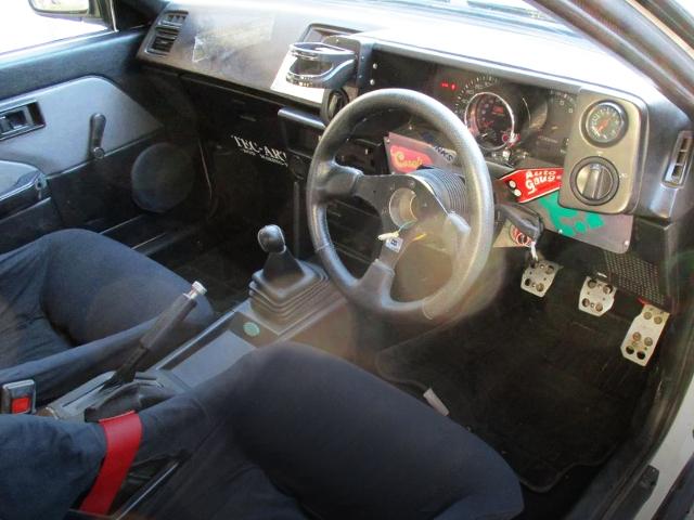 INTERIOR OF AE86 LEVIN GTV.