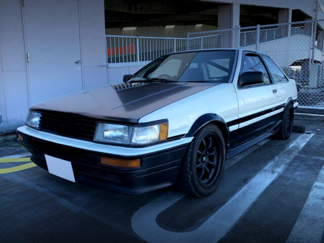 FRONT EXTERIOR OF AE86 TRUENO to LEVIN FRONT END CONVERSION.