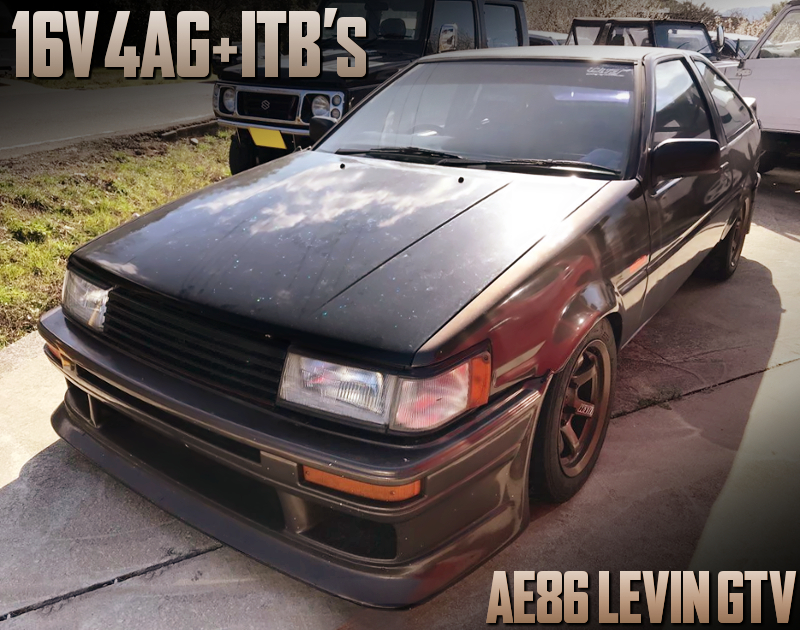 16V 4AG with ITBs into AE86 LEVIN GTV.