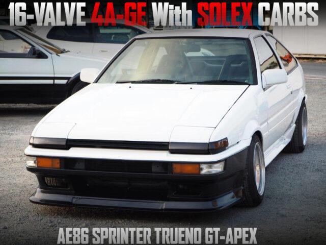 SOLEX CARBS on 16V 4AGE into AE86 TRUENO GT-APEX.