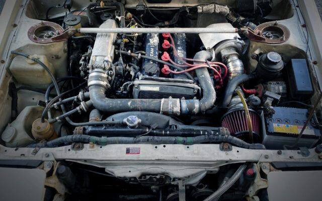 TURBOCHARGED 4AGE 16-VALVE ENGINE.