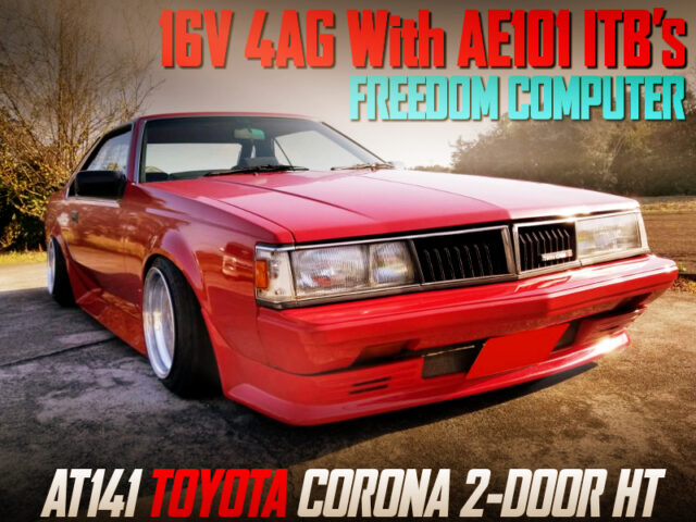 16V 4AG with AE101 ITB's AND FREEDOM ECU into AT141 CORONA 2-DOOR HT.