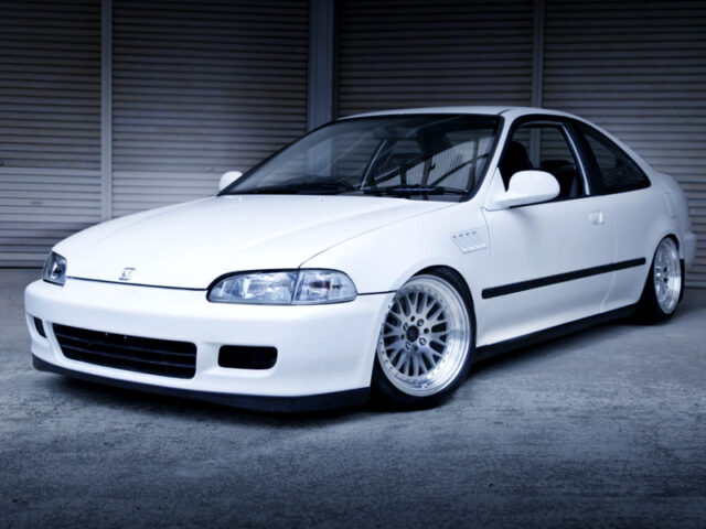 FRONT EXTERIOR OF EJ1 CIVIC COUPE to WHITE.