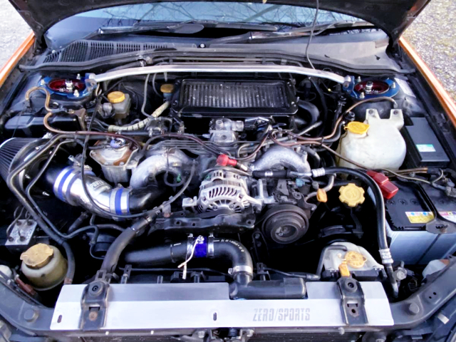 EJ20 TWIN TURBO ENGINE.