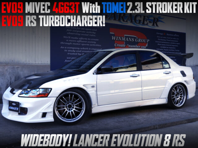 MIVEC 4G63 with 2.3L and EVO9 RS TURBO into LANCER EVOLUTION 8 RS WIDEBODY.