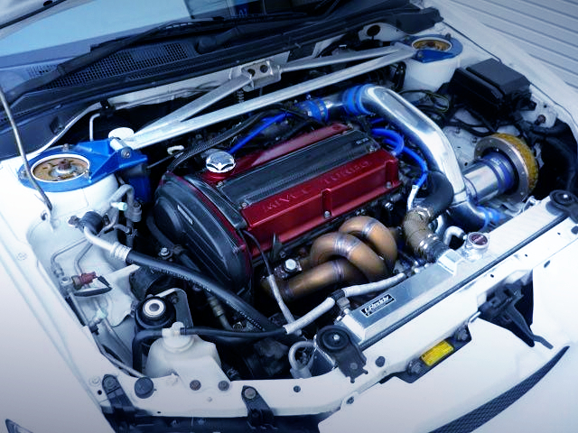 MIVEC 4G63 ENGINE with HKS GT2 TURBO.