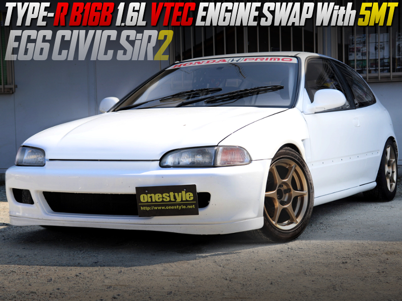 TYPE-R B16B SWAPPED EG6 CIVIC HATCH SiR2.